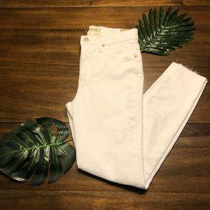 NWT Madewell White High-Rise Skinny Crop Jeans